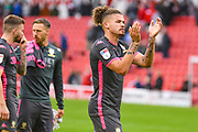 Leeds United midfielder Kalvin Phillips (23) reacts during the EFL Sky Bet Championship match between Barnsley and Leeds United at Oakwell, Barnsley, England on 15 September 2019.