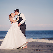 Images from Lydia and Jeremy's Folly Beach wedding near Charleston, South Carolina.