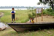 Amazon River village in Peru