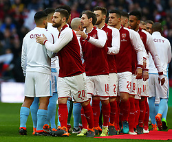 February 25, 2018 - London, England, United Kingdom - Arsenal's Shkodran Mustafi.during Carabao Cup Final match between Arsenal against Manchester City at Wembley stadium, London  England on 25 Feb 2018. (Credit Image: © Kieran Galvin/NurPhoto via ZUMA Press)