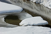 Ice detail on Kootenay River<br /> Kootenay National Park<br /> British Columbia<br /> Canada