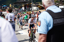 Cecilie Uttrup Ludwig (DEN) crosses the line at La Course by Le Tour de France 2018, a 112.5 km road race from Annecy to Le Grand Bornand, France on July 17, 2018. Photo by Sean Robinson/velofocus.com