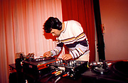 DJ playing 7 inch records