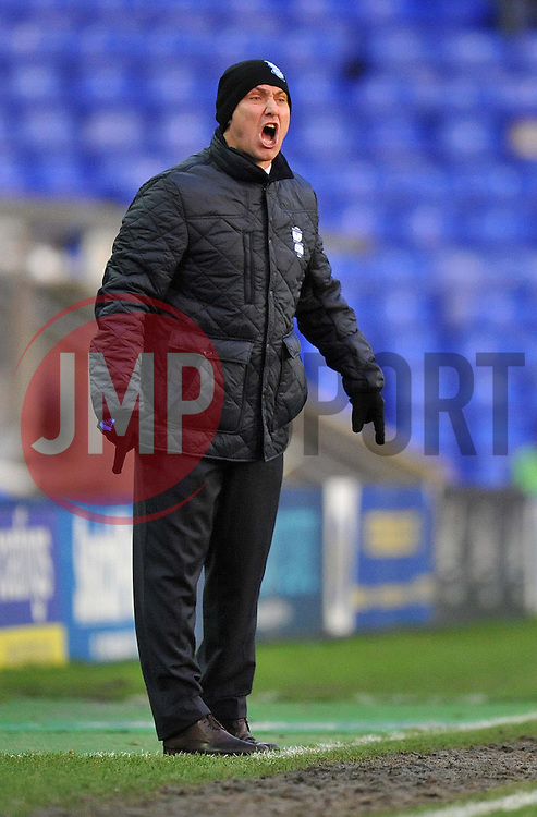 Frustrated Birmingham City Manager, Lee Clark  - Photo mandatory by-line: Alex James/JMP - Tel: Mobile: 07966 386802 25/01/2014 - SPORT - FOOTBALL - St Andrew's - Birmingham - Birmingham City v Swansea City - FA Cup - Forth Round