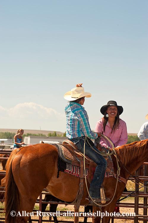 Breakaway Roper, Crow Fair, Indian Rodeo, Montana