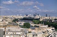 France. Paris. Elevated view on the Seine river. Paris cityscape, the justice palace, the Seine river  . view from the Sainte Chapelle  Paris  France   Paris