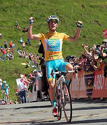 01.07.2013, Tirol, AUT, 65. Oesterreich Rundfahrt, 2. Etappe, Innsbruck - Kitzbühler Horn, im Bild Etappensieger im gelben Trikot #68 Kevin Seeldraeyers, BEL, Astana Pro Team // stage winner an leader overall #68 Kevin Seeldraeyers, BEL, Astana Pro Team at the 65th Tour of Austria, Stage 2, from Innsbruck to Kitzbühler Horn, Tyrol, Austria on 2013/07/01. EXPA Pictures © 2013, PhotoCredit: EXPA/ R. Eisenbauer