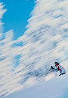 Streaking Skier