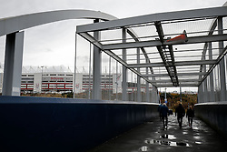 Supporters arrive at  the stadium - Photo mandatory by-line: Rogan Thomson/JMP - 07966 386802 - 01/01/2015 - SPORT - FOOTBALL - Stoke-on-Trent, England - Britannia Stadium - Stoke City v Manchester United - New Year's Day Football - Barclays Premier League.