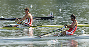 2006, U23 Rowing Championships, Hazewinkel, BELGIUM Friday, 21.07.2006. PER BLM1X Victor ASPILLAGAA ALAYZA, Photo  Peter Spurrier/Intersport Images email images@intersport-images.com....[Mandatory Credit Peter Spurrier/ Intersport Images] Rowing Course, Bloso, Hazewinkel. BELGUIM