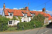 Attractive rural village cottages, Blaxhall, Suffolk, England, UK
