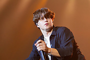 Brad Simpson Lead singer of The Vamps during the Girl Guiding Scotland Tartan Gig at SSE Hydro, Glasgow, Scotland on 31 August 2019. Picture by Colin Poultney.
