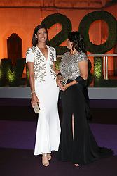 Garbiñe Muguruza at the Wimbledon Champions Dinner at The Guildhall, London. 16 Jul 2017 Pictured: Garbiñe Muguruza,Conchita Martínez. Photo credit: MEGA TheMegaAgency.com +1 888 505 6342