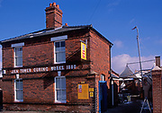A752HD Red brick nineteenth century terraced housing Great Yarmouth Norfolk England