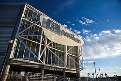 January 22, 2011; San Jose, CA, USA; General view of the exterior of HP Pavilion before the game between the Minnesota Wild and the San Jose Sharks. Mandatory Credit: Jason O. Watson / US PRESSWIRE