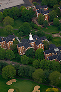 Aerial view of Wray House on South Green. © Ohio University