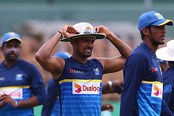 July 23, 2018 - Sri Lanka - Sri Lanka's Danushka Gunathilaka reacts before the match fourth day of the second Test match between Sri Lanka and South Africa at the Sinhalese Sports Club (SSC) international cricket stadium in Colombo, Sri Lanka  on July 23, 2018.Batsman Danushka Gunathilaka has been suspended over a misconduct charge in the middle of Sri Lanka's second Test against South Africa, the country's cricket board said on July 22. (Credit Image: © Pradeep Dambarage/Pacific Press via ZUMA Wire)