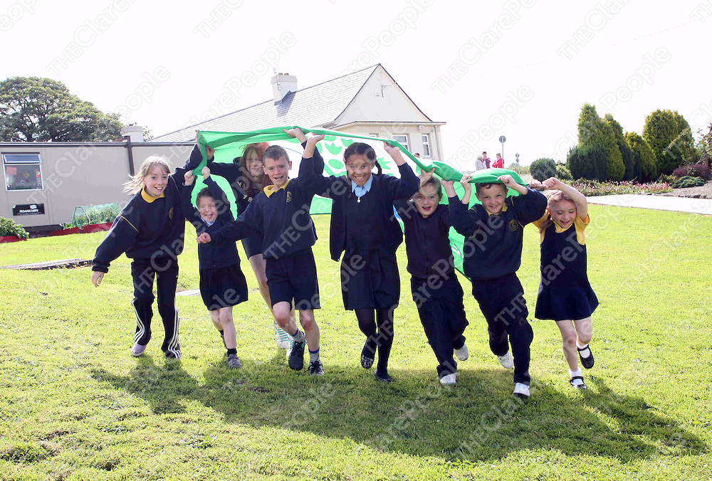 PIctured at Clonmoney NS near Newmarket on Fergus raising their green flag on Friday 17th June 2011<br /> Emma Jervis / Press 22