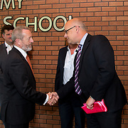 31.08. 2017.                                   <br /> Leaders in the pharmaceutical manufacturing sector in Ireland gathered at University of Limerick today for the third annual Pharmaceutical Manufacturing Technology Centre (PMTC) Knowledge Day.<br /> <br /> Sean Kelly MEP was greeted by Dr Phelan, Associate Registrar UL on his arrival.<br /> <br /> The event provided a showcase for the cutting-edge research supported by the centre with key note addresses from industry thought leaders who shared their vision of the future for the pharmaceutical sector. Picture: Alan Place