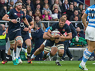 Chris Robshaw in action, England v Argentina in an Old Mutual Wealth Series, Autumn International match at Twickenham Stadium, London, England, on 26th November 2016. Full Time score 27-14