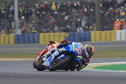 May 19, 2019 - Le Mans, Sarthe, FRANCE - 42 ALEX RINS (ESP) TEAM SUZUKI ECSTAR (JPN) SUZUKI GSX RR (Credit Image: © Panoramic via ZUMA Press)