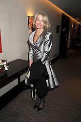 SANDRA HOWARD at the 2008 Costa Book Awards held at the Intercontinental Hotel, Hamilton Place, London on 27th January 2009.