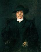 Otto von Bismarck, 1880. Painted by  Franz Seraph Lenbach (1836 - 1904). German painter.