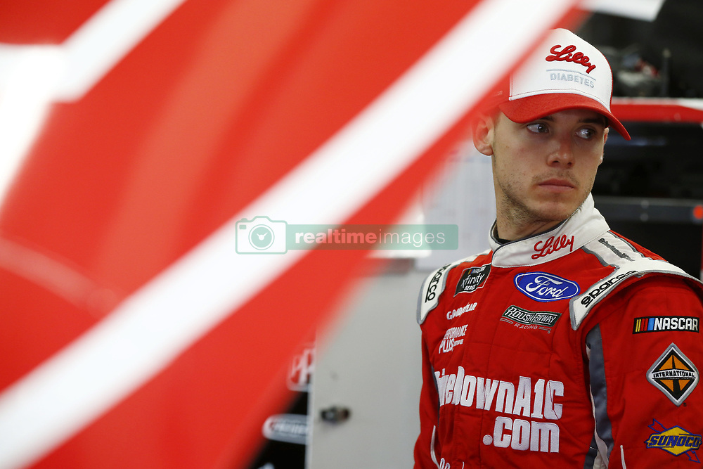 September 27, 2018 - Concord, North Carolina, United States of America - Ryan Reed (16) hangs out in the garage during practice for the Drive for the Cure 200 at Charlotte Motor Speedway in Concord, North Carolina. (Credit Image: © Chris Owens Asp Inc/ASP via ZUMA Wire)
