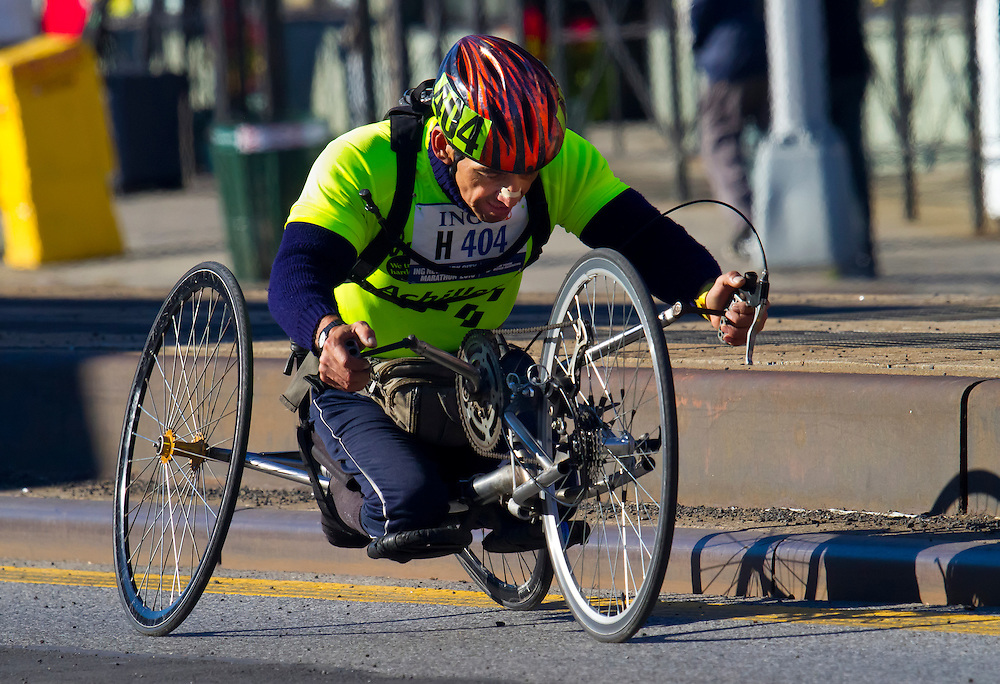 Handicapped racer. NYC Marathon, 2010.