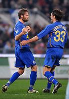 """Olof Mellberg celebrates scoring with Nicola Legrottaglie<br /> Esultanza di Mellberg dopo il gol<br /> Roma 18/1/2009 Stadio """"Olimpico"""" <br /> Campionato Italiano Serie A 2008/2009 <br /> Lazio Juventus (1-1)<br /> Massimo Oliva /Insidefoto"""