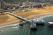 Nederland, Zuid-Holland, Scheveningen, 22-05-2011;.Badplaats Scheveningen met boulevard, Kurhaus en Pier, strand en zee.  Seaside resort Scheveningen with its  boulevard, Kurhaus and Pier, beach and sea.  luchtfoto (toeslag), aerial photo (additional fee required).foto/photo Siebe Swart