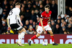 Adam Nagy of Bristol City is challenged by Alfie Mawson of Fulham - Rogan/JMP - 07/12/2019 - Craven Cottage - London, England - Fulham v Bristol City - Sky Bet Championship.