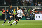 Kyle Walker of England battles with Jonas Hector of Germany during the International Friendly match between Germany and England at Signal Iduna Park, Dortmund, Germany on 22 March 2017. Photo by Phil Duncan.