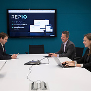 REPIQ staff in their office Friday July 21, 2017 in Chicago. More/Konstantaras Photography Founded in 2016 by Shawn Carpenter, a serial entrepreneur, and Jonathan Suchland, a former Amazon software development manager, Chicago-based RepIQ crawls the internet to create a database of more than 1 million companies salespeople can tap into, then suggests the best leads to reps.