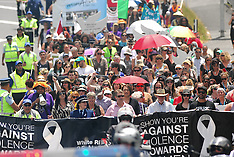 Auckland-David Cunnliffe leads white ribbon march against violence through Henderson