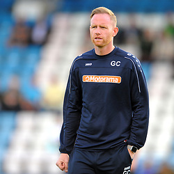 TELFORD COPYRIGHT MIKE SHERIDAN AFC Telford manager Gavin Cowan  during the National League North fixture between AFC Telford United and Kidderminster Harriers on Tuesday, August 6, 2019.<br /> <br /> Picture credit: Mike Sheridan<br /> <br /> MS201920-006
