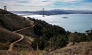 View of San Francisco Bay and Golden Gate Bridge from Mount Tamalpais; San Francisco, California