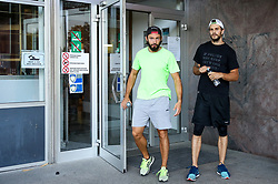 David Planko and Gal Koren during arrival of athletes of HK SZ Olimpija before Season 2019/20, on July 29, 2019 in Hala Tivoli, Ljubljana, Slovenia. Photo by Matic Klansek Velej / Sportida