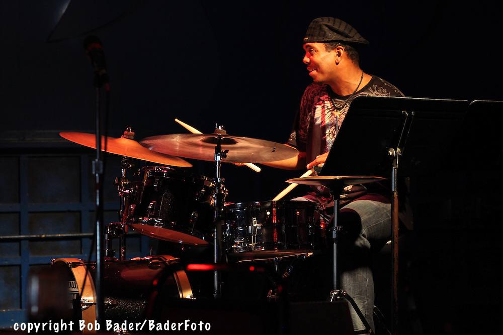 Drummer Kenny Phelps performing at the Jazz Kitchen in Indianapolis,Indiana