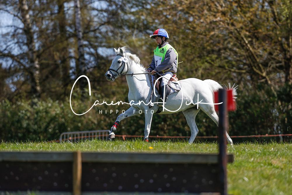 Hoflack Bryan (BEL) - Atinka van de Molencounter<br /> Nationale Pony eventing Affligem 2013<br /> &copy; Dirk Caremans