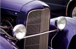Front of vintage automobile