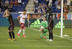September 27, 2017 - Harrison, New Jersey, United States - DC United players react after allowing 2nd goal by Tyler Adams of Red Bulls  (Credit Image: © Lev Radin/Pacific Press via ZUMA Wire)