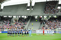 Illustration Minute de Silence - Equipe Evian Thonon / Equipe Lyon - 02.05.2015 - Lyon / Evian Thonon - 35eme journee de Ligue 1<br />