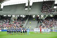 Illustration Minute de Silence - Equipe Evian Thonon / Equipe Lyon - 02.05.2015 - Lyon / Evian Thonon - 35eme journee de Ligue 1<br />Photo : Jean Paul Thomas / Icon Sport