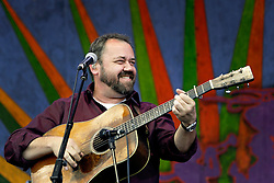 30 April 2015. New Orleans, Louisiana.<br /> The New Orleans Jazz and Heritage Festival. <br /> Dan Tyminski plays with Alison Krauss on the Gentilly Stage.<br /> Photo; Charlie Varley/varleypix.com