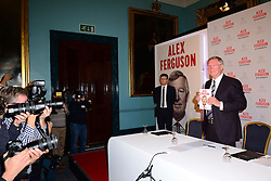 Sir Alex Ferguson book launch press conference. Former Manchester United boss during his autobiography launch titled 'My Autobiography', at The Institute of Directors, London, United Kingdom. Tuesday, 22nd October 2013. Picture by Nils Jorgensen / i-Images