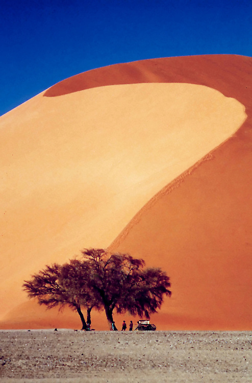 The highest sand dunes in the world at Sossusvlei, Namibia.