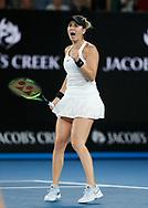 BELINDA BENCIC (SUI) macht die Faust und jubelt,Jubel,Emotion,<br /> <br /> Tennis - Australian Open 2018 - Grand Slam / ATP / WTA -  Melbourne  Park - Melbourne - Victoria - Australia  - 15 January 2018.