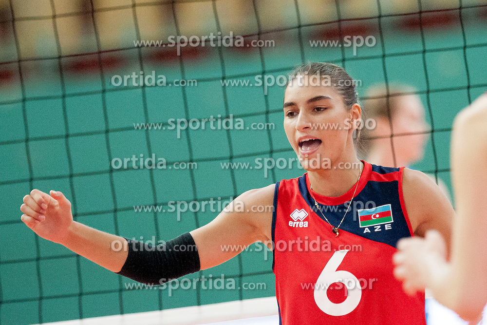 Ayshan Abdulazimova #6 of Azerbaijan during volleyball match between National Teams of Slovenia and Azerbaijan of 2014 CEV Volleyball European League Women - Pool A, on July 5, 2014, in Arena Ljudski vrt Lukna, Maribor, Slovenia, Slovenia. Photo by Urban Urbanc / Sportida