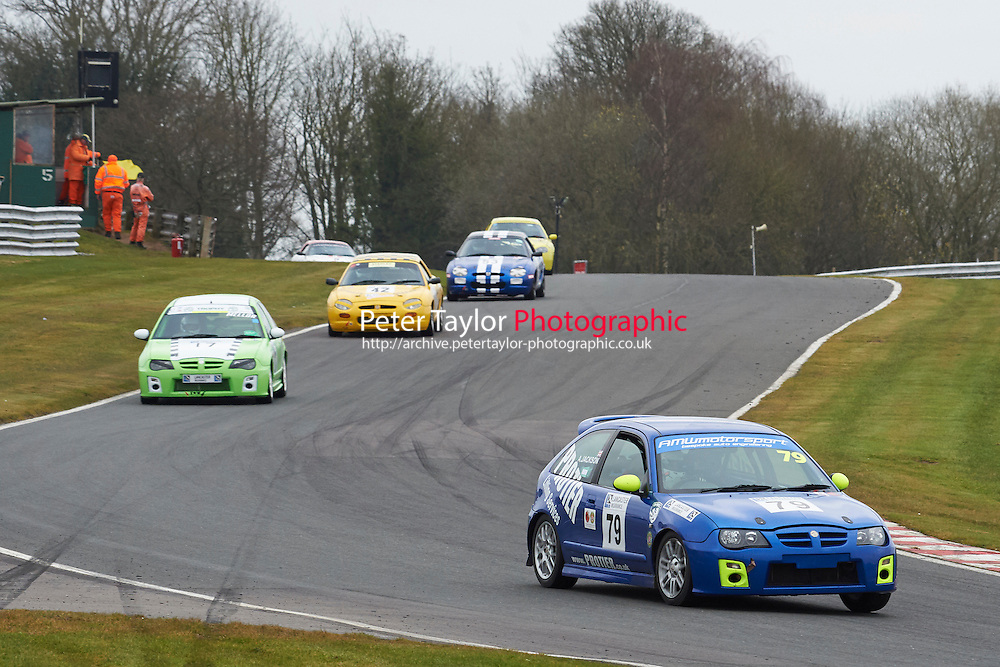 #79 Adam JACKSON MG ZR 1796 during Lancaster Insurance MG Owners Club Championship as part of the BARC NW - Championship Raceday  at Oulton Park, Little Budworth, Cheshire, United Kingdom. March 19 2016. World Copyright Peter Taylor/PSP. Copy of publication required for printed pictures.  Every used picture is fee-liable. http://archive.petertaylor-photographic.co.uk